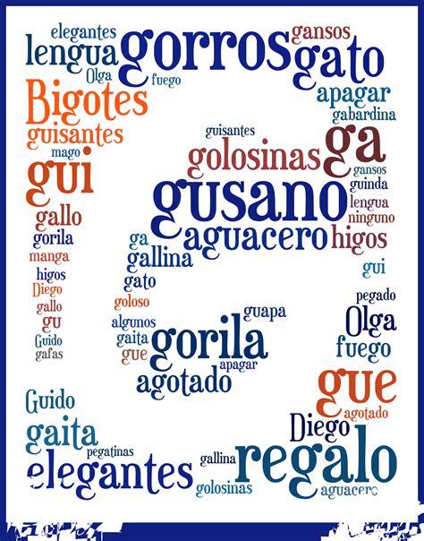 palabras con la letra g g ejemplos de palabras con g rimas y letras la clase de educaci 243 n f 237 sica y mucho m 225 s