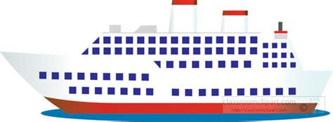 clipart boats and ships cruise passenger ship clipart clipground