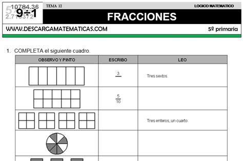 Emejing Fracciones Cuarto De Primaria Images - Casas: Ideas ...