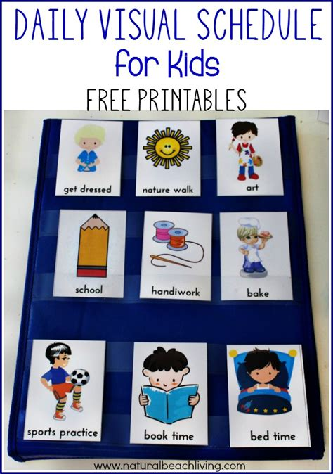 printable daily schedule for autistic child daily visual schedule for kids free printable visual