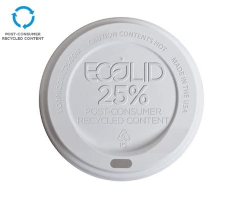 Content Cap ecolid 174 25 recycled cup lids