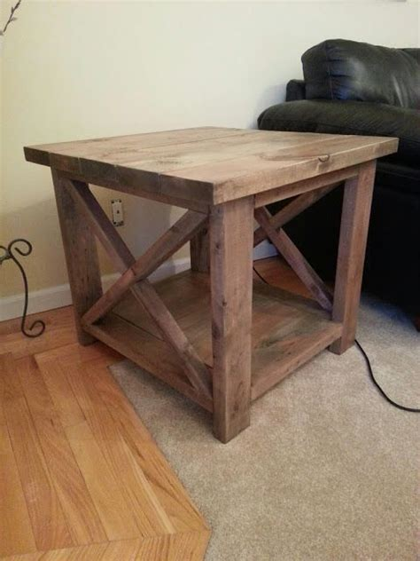 white s rustic x end table for the home
