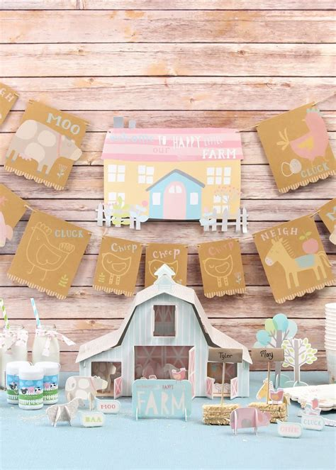 Barn Animal Party Supplies Cute Farm Baby Shower Ideas For A Boy Or Baby Shower