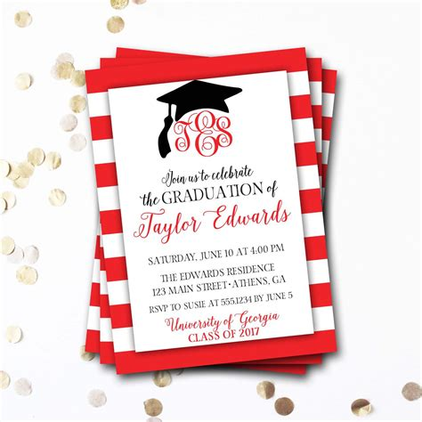 invitation card template graduation graduation invitation graduation invitation cards