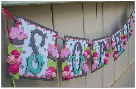 Custom Baby Shower Banners by Handmade Banner Custom Made Go Green Name Banner Happy