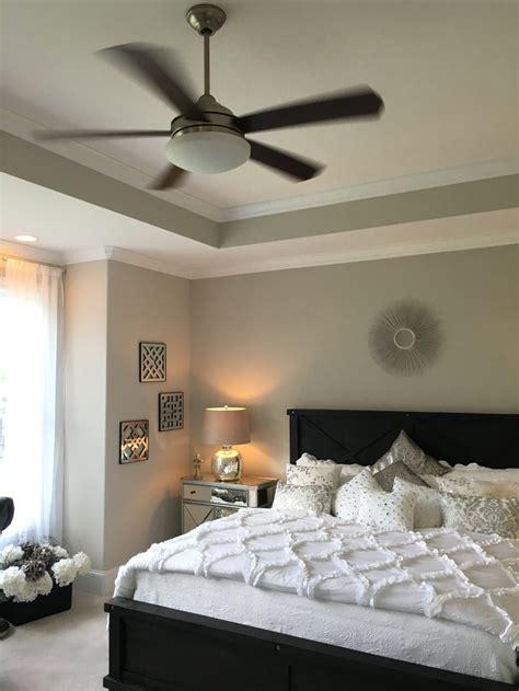 large master bedroom  box bay window trey ceiling