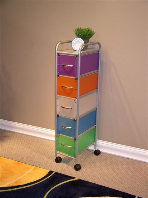 Multi Colored Cabinets by 5 Drawer Multi Colored Chest Storage