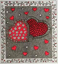 valentine zentangle zendoodle art amp stuff