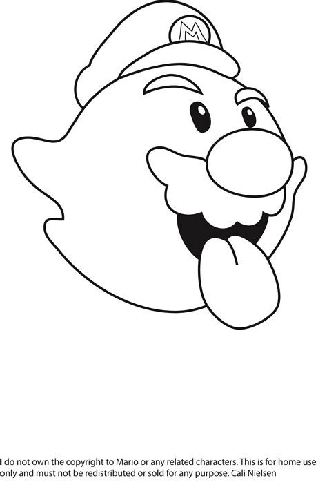 mario ghost coloring pages free coloring pages of super mario boo