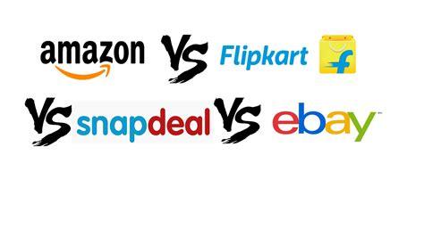 amazon vs ebay amazon vs flipkart vs snapdeal vs ebay youtube