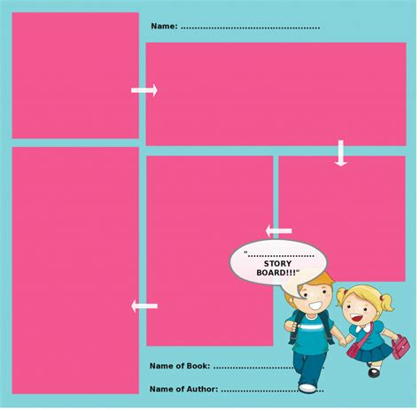 storyboard templates with unique designs for kids and