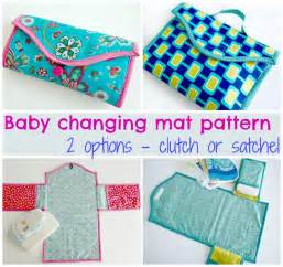 baby changing mat pattern two options so sew easy