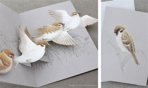 Pop Up Bird Card Template by Wee Birdy The Insider S Guide To Shopping Design