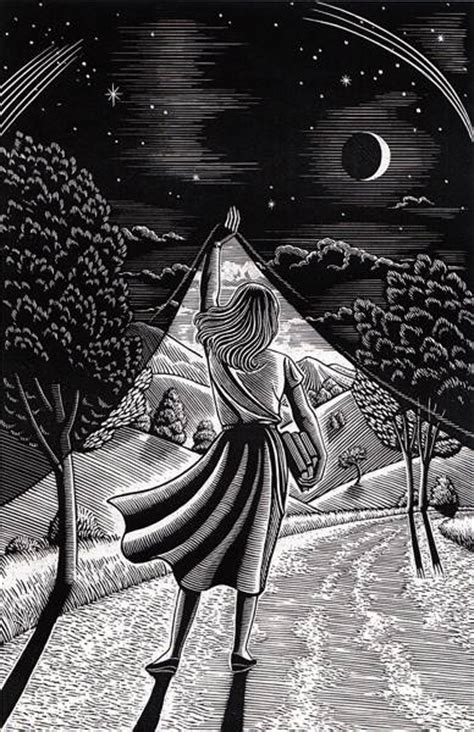 artist illustrator douglas douglas smith original scratchboard day