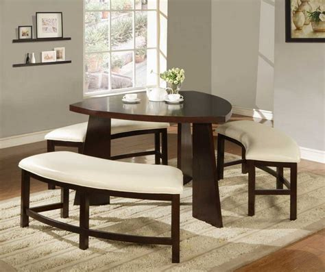 Dining Room Sets With Bench Small Dining Room Decor Home Designs Project