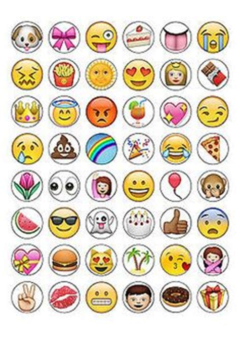 cupcake emoji for iphone 24 x emoji happy smiley faces cupcake cake toppers edible wafer paper smiley faces