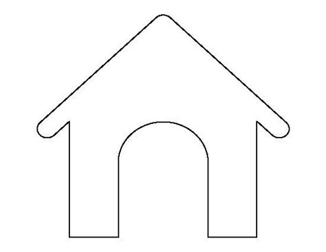 pattern for dog house dog house pattern use the printable outline for crafts