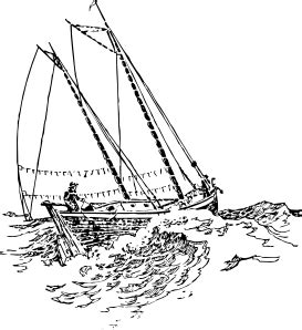 drawing boat and waves boat sailing in strong waves clip art free vector 4vector