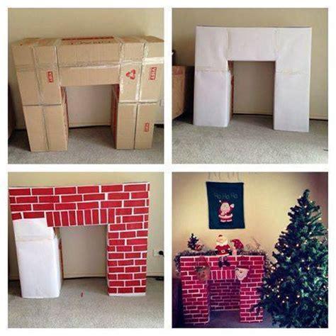 cardboard fireplace diy decor cardboard fireplace