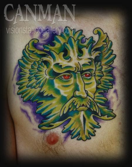 visions tattoo gallery canman green man