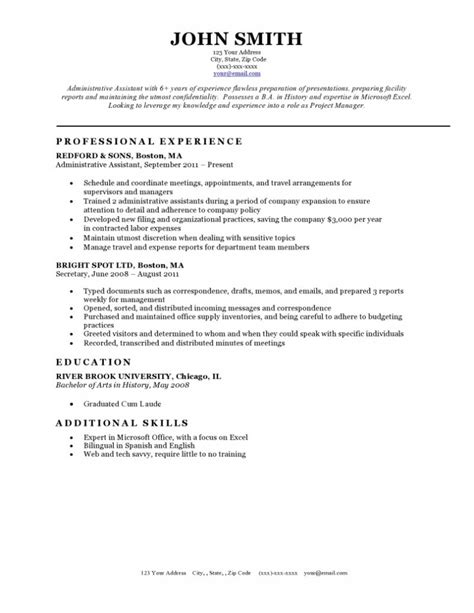 Mit Resume by Resume Templates Resume Cv Exle Template