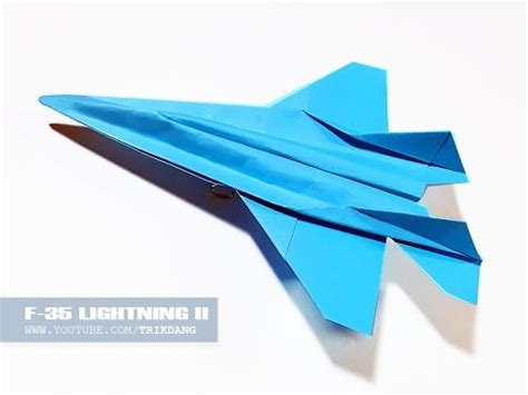 Origami F22 - best paper jet fighter how to make a paper airplane that