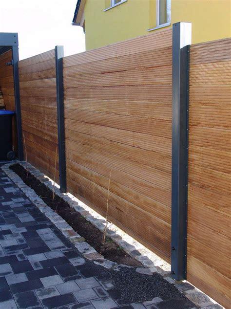 Sichtschutz Garten Metall Holz by Sichtschutzzaun Holz Metall Carport Anbau Verl 228 Ngerung