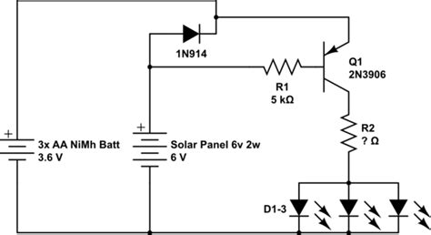 Solar Light Schematic Transistors Automatic Solar Light Far Dim Help With