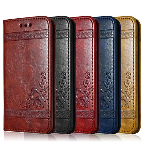 Best Deal Flip Leather For Iphone 7 Plus 8 Plus Brown leather flip phone for iphone 7 plus 6 6s plus 5s 4s