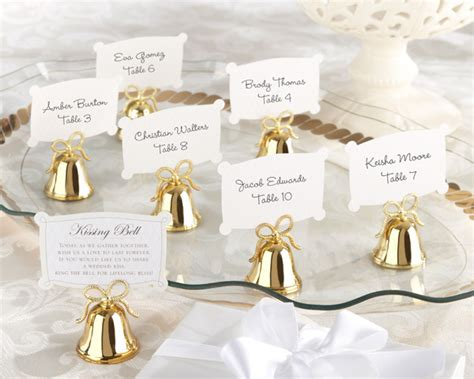 gold kissing place card holders set 24