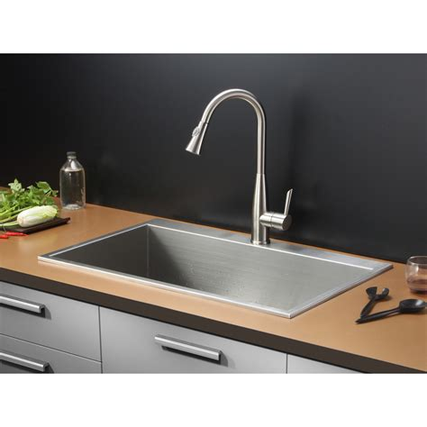 tirana 33 quot x 21 quot drop in single bowl kitchen sink wayfair