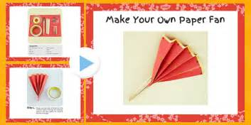 Make Your Own Paper Fan - make your own paper fan craft powerpoint craft