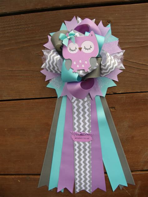 Purple Owl Baby Shower Decorations by Purple Baby Shower