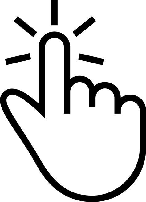 finger tap gesture  outlined hand symbol svg png