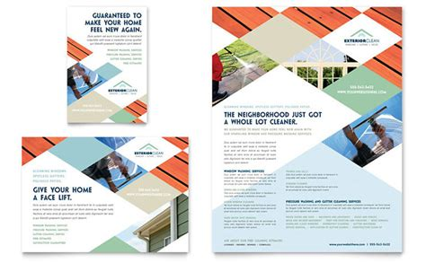 Window Cleaning Pressure Washing Flyer Ad Template Design Pressure Washing Template