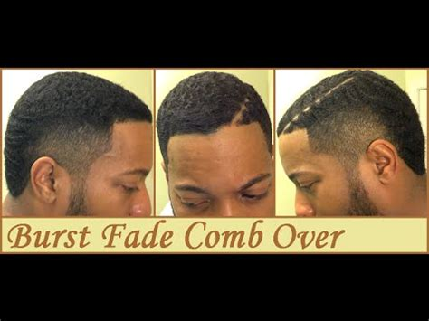 how to do a combover for black guys burst fade comb over hard part youtube