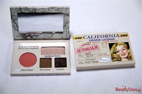 Palatte California By The Balm the balm cosmetics autobalm california palette