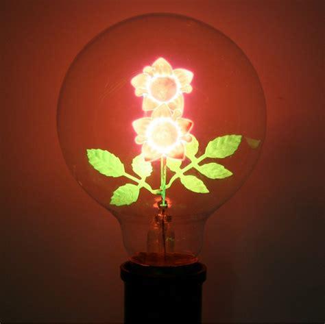 flowers in light bulbs flower filament light bulbs
