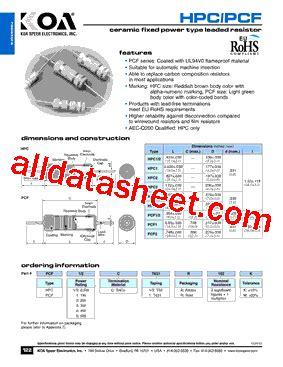 koa hpc resistors koa resistors datasheet 28 images koa resistor pdf 28 images wk732jtte33l0f datasheet pdf