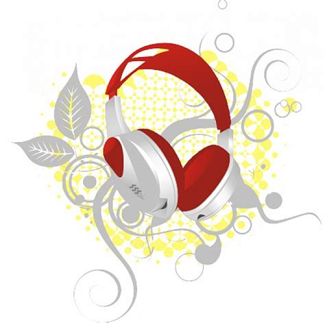 flower design headphones floral headphones vector free download
