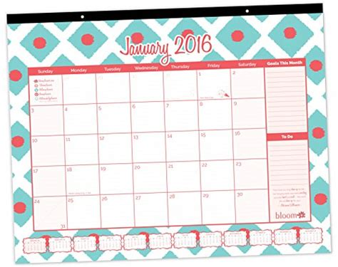 Small Hanging Desk Calendar Bloom Daily Planners 2016 Calendar Year Desk Calendar