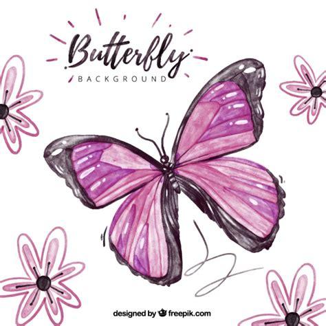 imagenes de mariposas rosadas y moradas fondo hermoso con mariposa morada y flores descargar