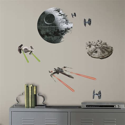 Star Wars Wandaufkleber by Star Wars Classic Space Ships Death Star Wall Decals