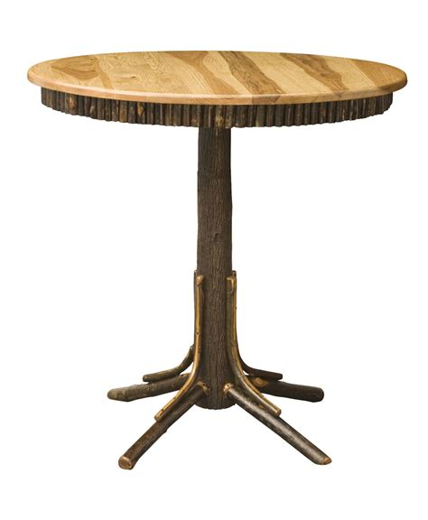 Log Pub Table And Chairs by Hickory Log Pub Table Amish Direct Furniture