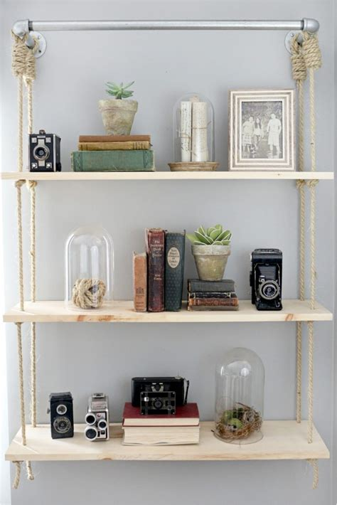 31 Diy Hanging Shelves Perfect For Every Room In Your Home Hanging Bookshelves For