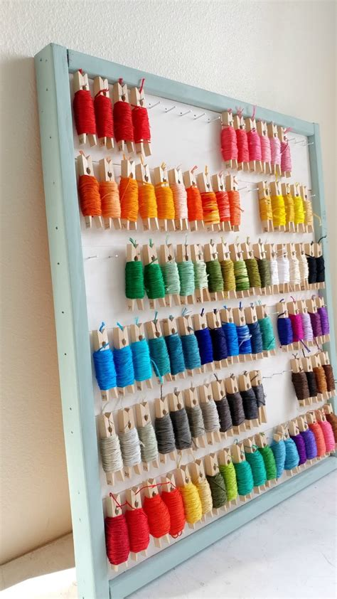 ameroonie designs diy embroidery floss organizer using
