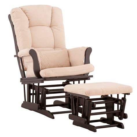 rocker glider chairs storkcraft tuscany glider and ottoman with free lower