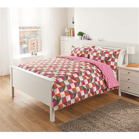 George Home Triangles Duvet Set Bedding Asda Direct Asda Bed Sets