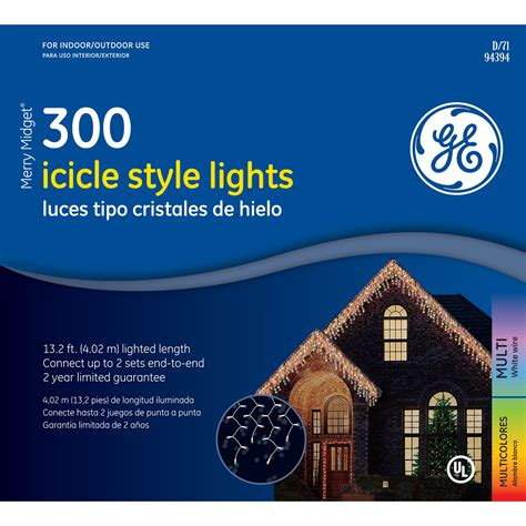 ge icicle lights ge 50425sr 300 icicle lights multi sears outlet