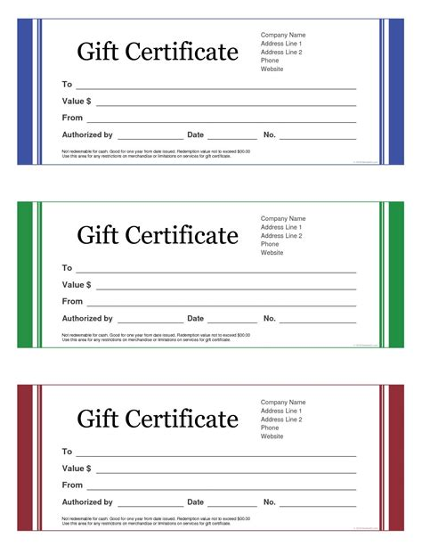 best free templates free gift certificate templates besttemplates123